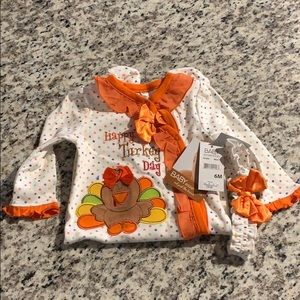 Baby footed onesie - Thanksgiving